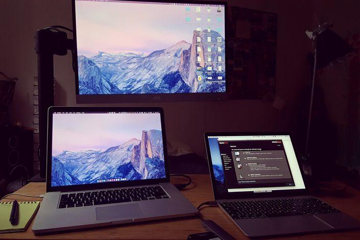 Monitorių kalibravimas trijų monitorių