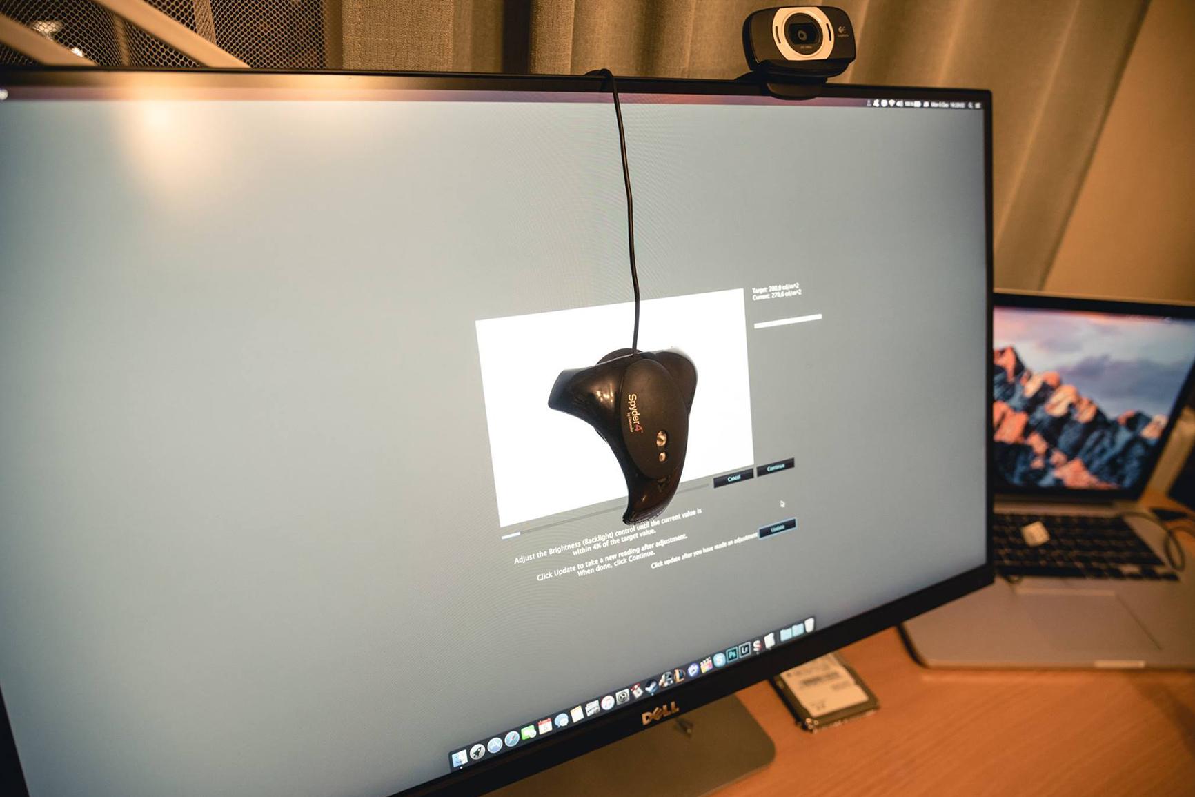 Vieno monitoriaus kalibravimas